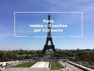 paris vuelos + 3 noches por 110 euros