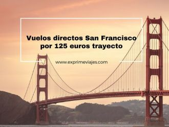 san francisco vuelos directos 125 euros trayecto