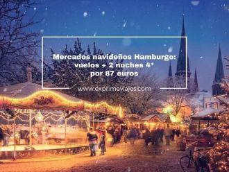 mercados navideños hamburgo vuelos + 2 noches 4* por 87 euros