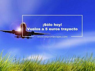 vuelos 5 euros trayecto