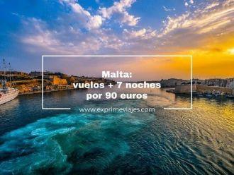 Malta vuelos + 7 noches por 90 euros