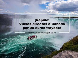 canadá vuelos directos 98 euros trayecto