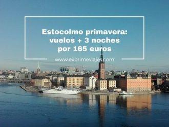 estocolmo primavera vuelos + 3 noches por 165 euros