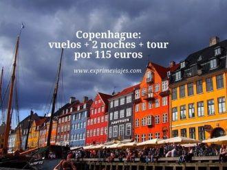 Copenhague vuelos + 2 noches + tour por 115 euros