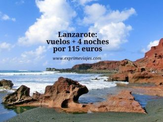 Lanzarote vuelos + 4 noches por 115 euros
