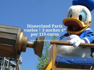 disneyland paris vuelos 3 noches 4* 119 euros