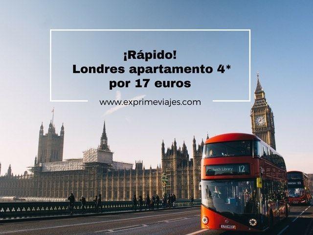 Londres apartamento 4* por 17 euros