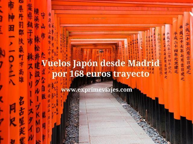 ¡WOW! VUELOS A JAPÓN DESDE MADRID POR 164EUROS TRAYECTO