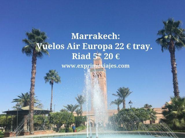 marrakech vuelos air europa 22 euros