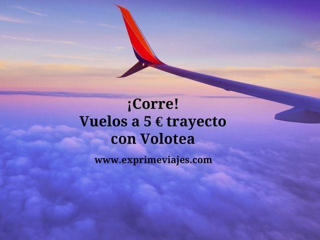 vuelos 5 euros trayecto volotea