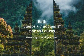 Bali vuelos + 7 noches 4* por 493 euros