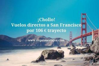 san francisco vuelos directos 106 euros trayecto