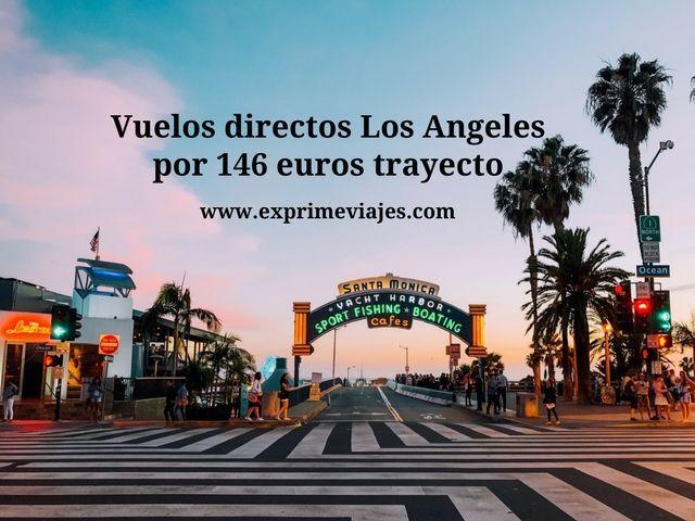 Vuelos directos a Los Angeles por 146 euros trayecto
