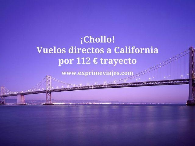 california vuelos directos 112 euros trayecto