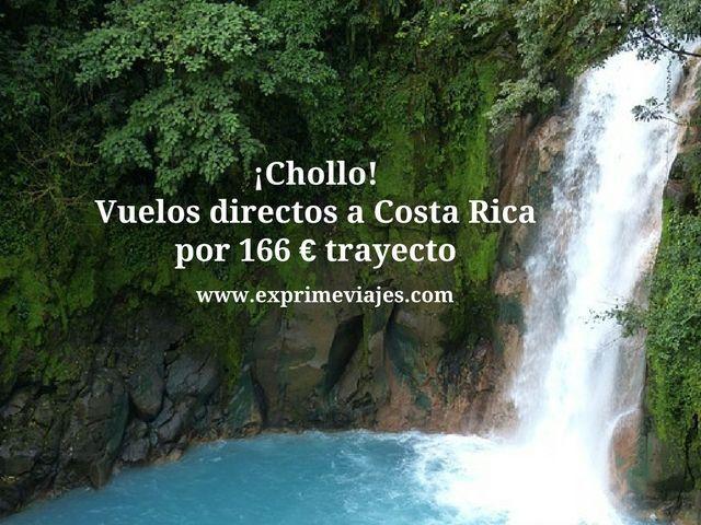 ¡CHOLLO! VUELOS DIRECTOS A COSTA RICA POR 166EUROS TRAYECTO