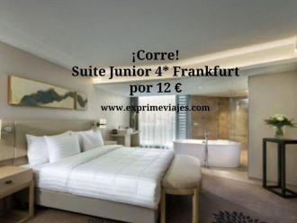 frankfurt tarifa error suite junior 4 estrellas 12 euros