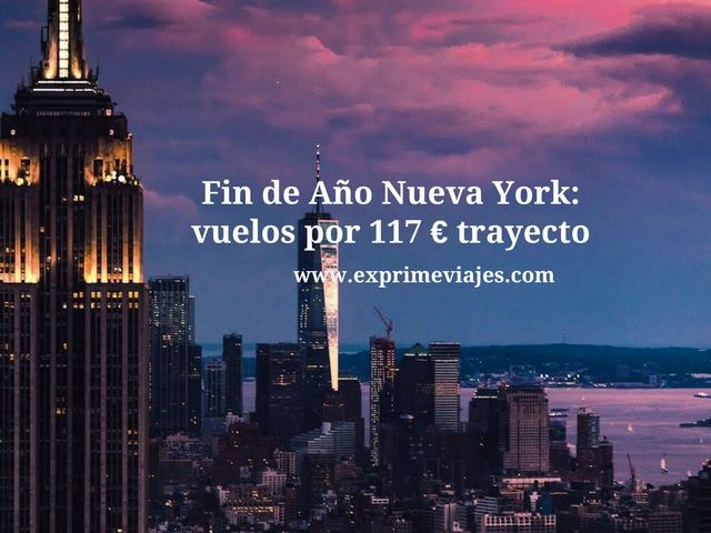 nueva york fin de año 117 euros trayecto