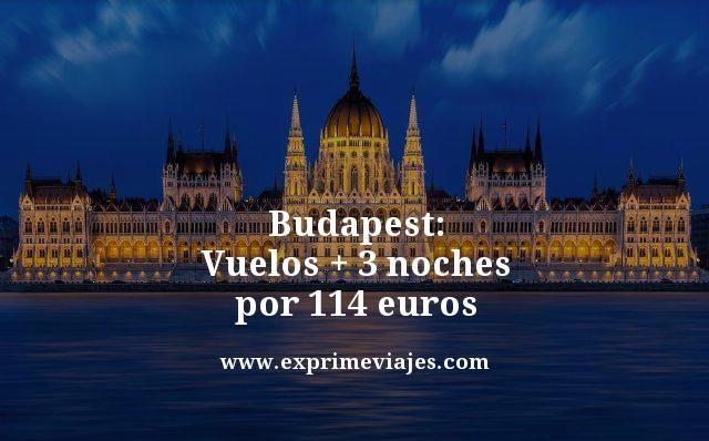 Budapest vuelos + 3 noches por 110 euros