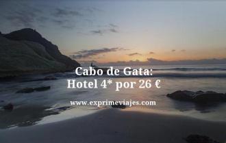 Cabo de Gata hotel 4 estrellas por 26 euros