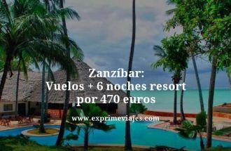 zanzibar vuelos 6 noches resort 470 euros