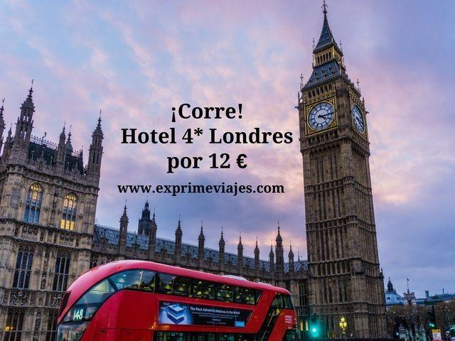 ¡CORRE! LONDRES: HOTEL 4* HYDE PARK POR 12EUROS