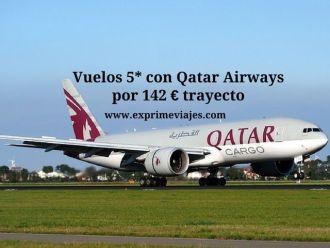 vuelos qatar airways 142 euros trayecto