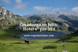 Covadonga en julio hotel 4 estrellas por 25 euros