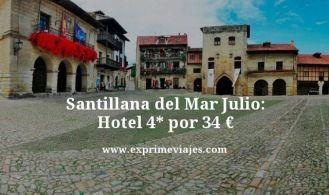 Santillana del mar julio hotel 4 estrellas por 34 euros