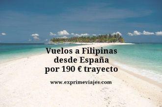 vuelos a filipinas 190 euros trayecto