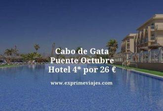 cabo de gata puente octubre hotel 4 estrellas por 26 euros