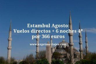 Estambul agosto vuelos directos mas 6 noches 4 estrellas por 366 euros