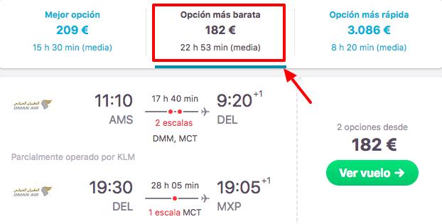 tarifa error vuelos asia 91 euros trayecto