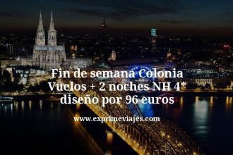 fin de semana colonia vuelos mas 2 noches nh 4 estrellas diseño por 96 euros