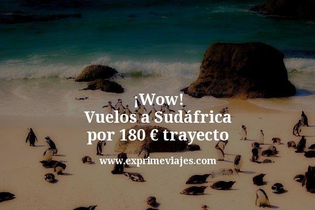 wow vuelos a Sudáfrica por 180 euros trayecto