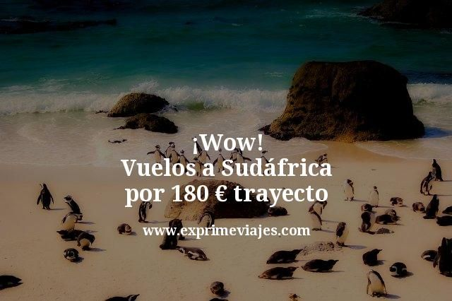 ¡Wow! Vuelos a Sudáfrica por 180euros trayecto (incluido verano)
