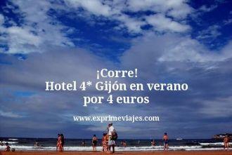 corre hotel 4 estrellas Gijón en verano por 4 euros