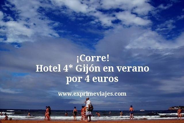 ¡Corre! Gijón en verano: Hotel 4* por 4euros