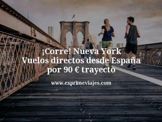 Corre Nueva York Vuelos directos desde España por 90 euros trayecto