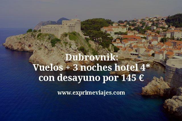 Dubrovnik: Vuelos + 3 noches hotel boutique 4* con desayuno por 145€