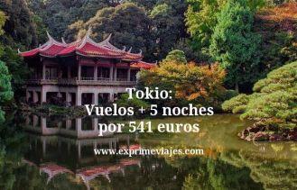 Tokio vuelos mas 5 noches por 541 euros