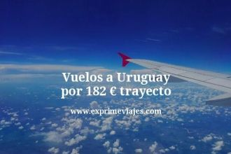 Vuelos a Uruguay por 182 euros trayecto