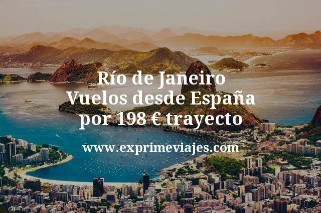 Río de Janeiro Vuelos desde España por 198 euros trayecto