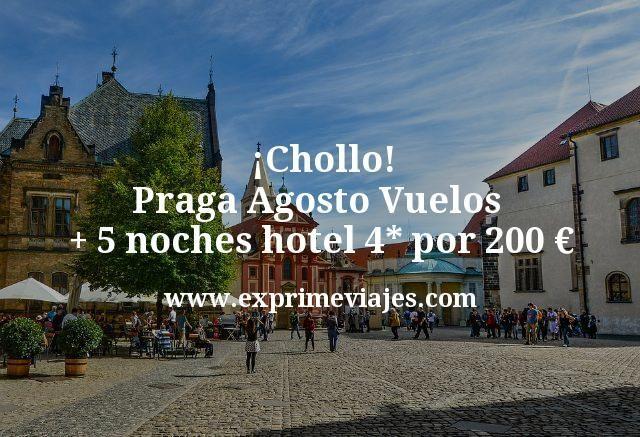 ¡Chollo! Praga en Agosto: Vuelos + 5 noches hotel 4* por 200euros