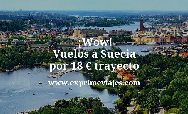 Wow Vuelos a Suecia por 18 euros trayecto