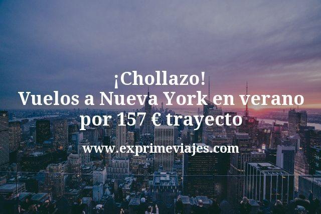 ¡Chollazo! Vuelos a Nueva York en verano por 157€ trayecto