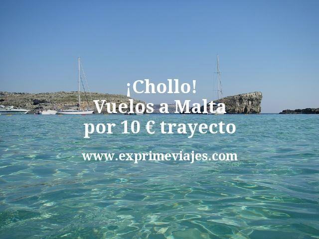 Chollo Vuelos a Malta por 10 euros trayecto