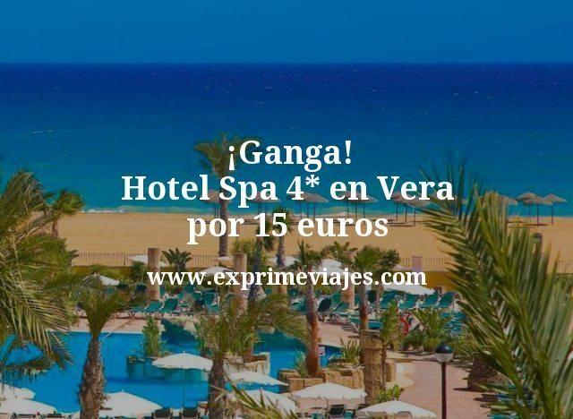 Ganga Hotel Spa 4 estrellas en Vera por 15 euros