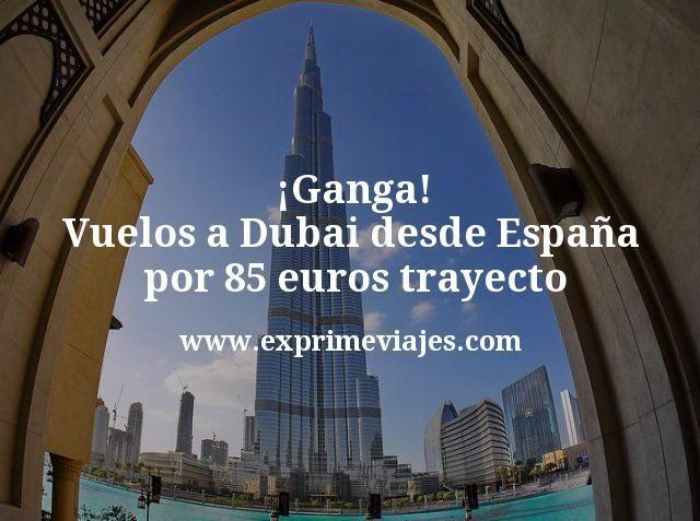 Ganga Vuelos a Dubai desde Espana por 85 euros trayecto