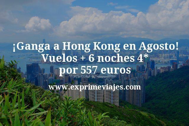 ¡Ganga a Hong Kong en agosto! Vuelos + 6 noches 4* por 557euros