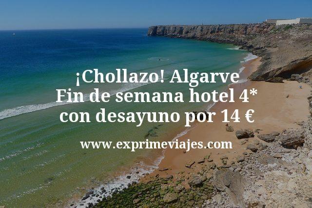¡Chollazo! Fin de semana Algarve: Hotel 4* con desayuno por 14€ p.p/noche